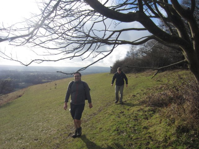 Marc and Mattias on the North Downs Way