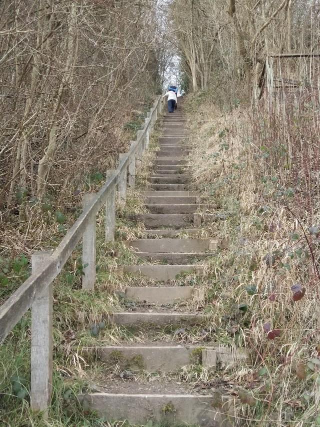 Just a few steps down