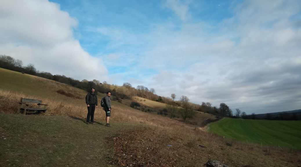 The start of the ridge on the Oxted Downs
