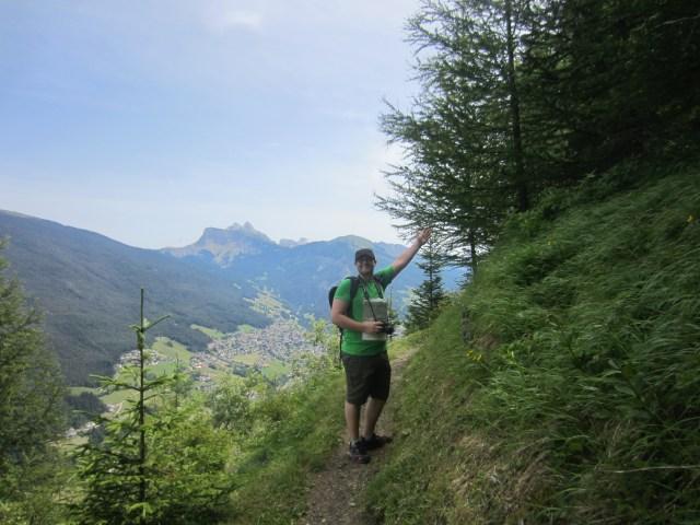 On the way up Puflatsch / Bulacia