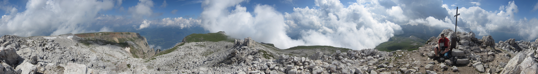Panorama of Schlern/Sciliar's peak