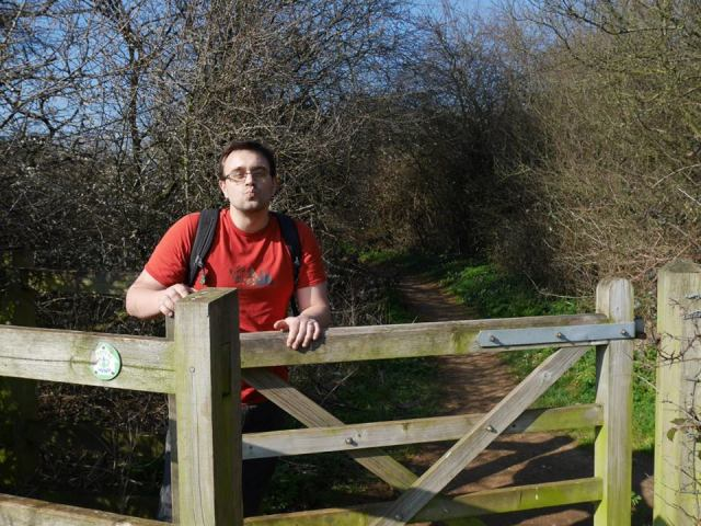 Marc about to climb Horsenden Hill