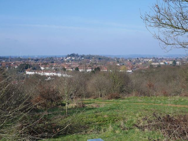 The view from Horsenden Hill to Harrow