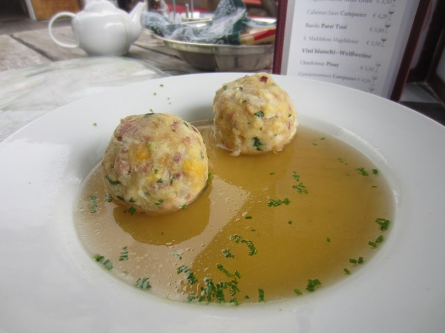 Speck dumpling soup. Yes!