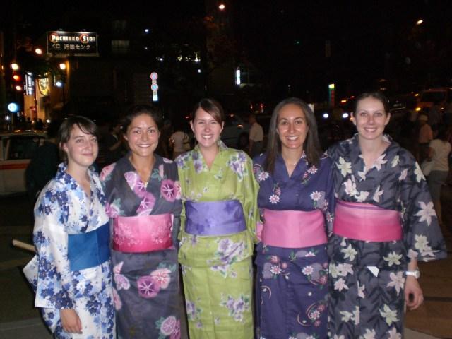 All dressed in Yukata