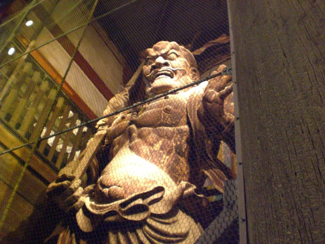 One of the statues leading to Todaiji