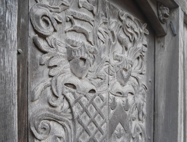 Gorgeous carvings on a door in Otford