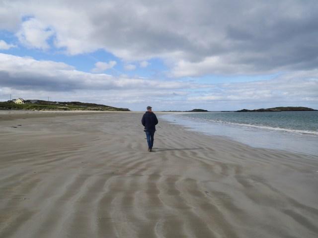 Dad on Glassilaun beach
