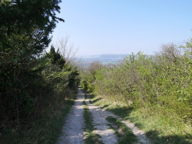 Track up Otford Mount