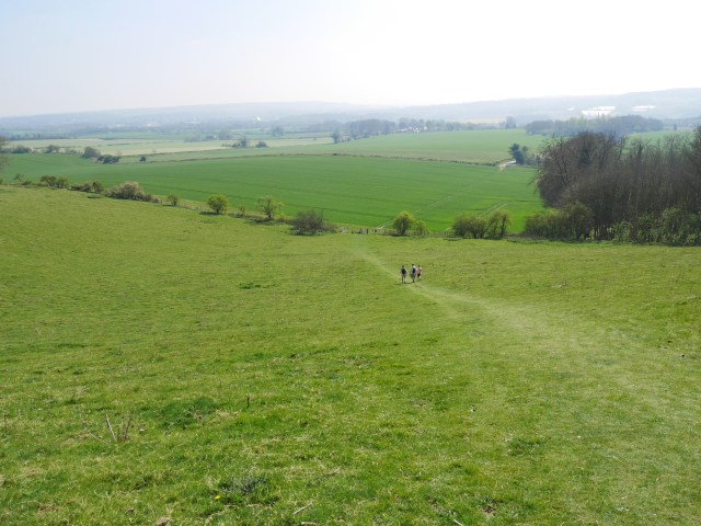 View down to the Pilgrims way