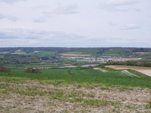 Looking back towards the river Medway and Cuxton