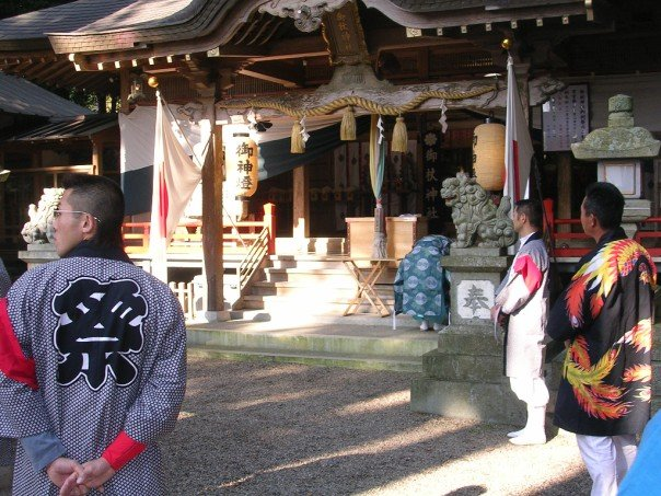 Men in the shrine