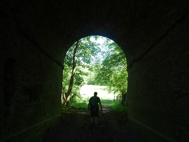 Under the disused railway