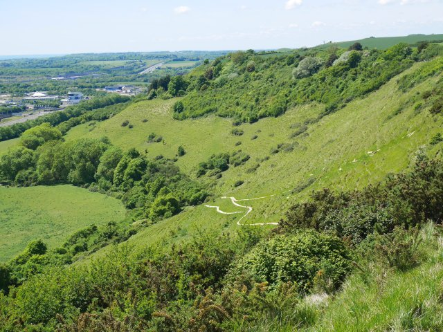 You can see a little of the chalk horse