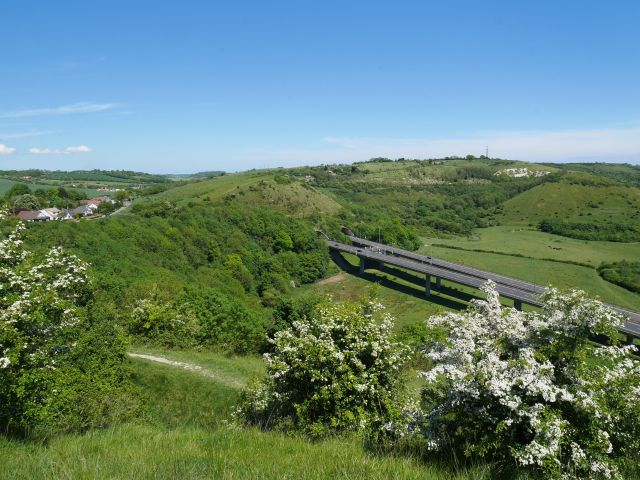 The A20 going under the Downs