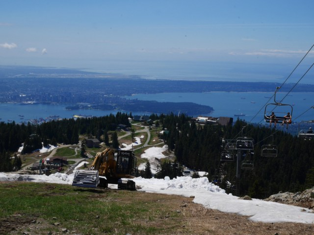 The view from Grouse Mountain's top