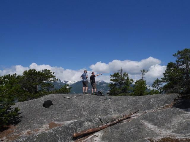 Bernie and Marc on the third peak
