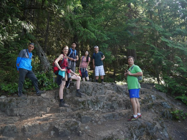 Lovely wanderung hikers