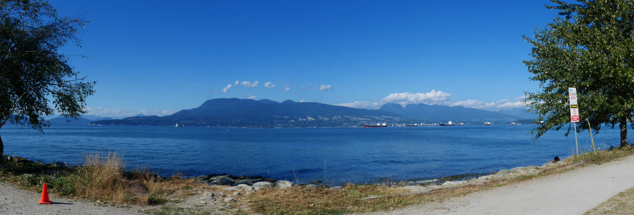 The amazing view from the cycle lane near Jericho beach