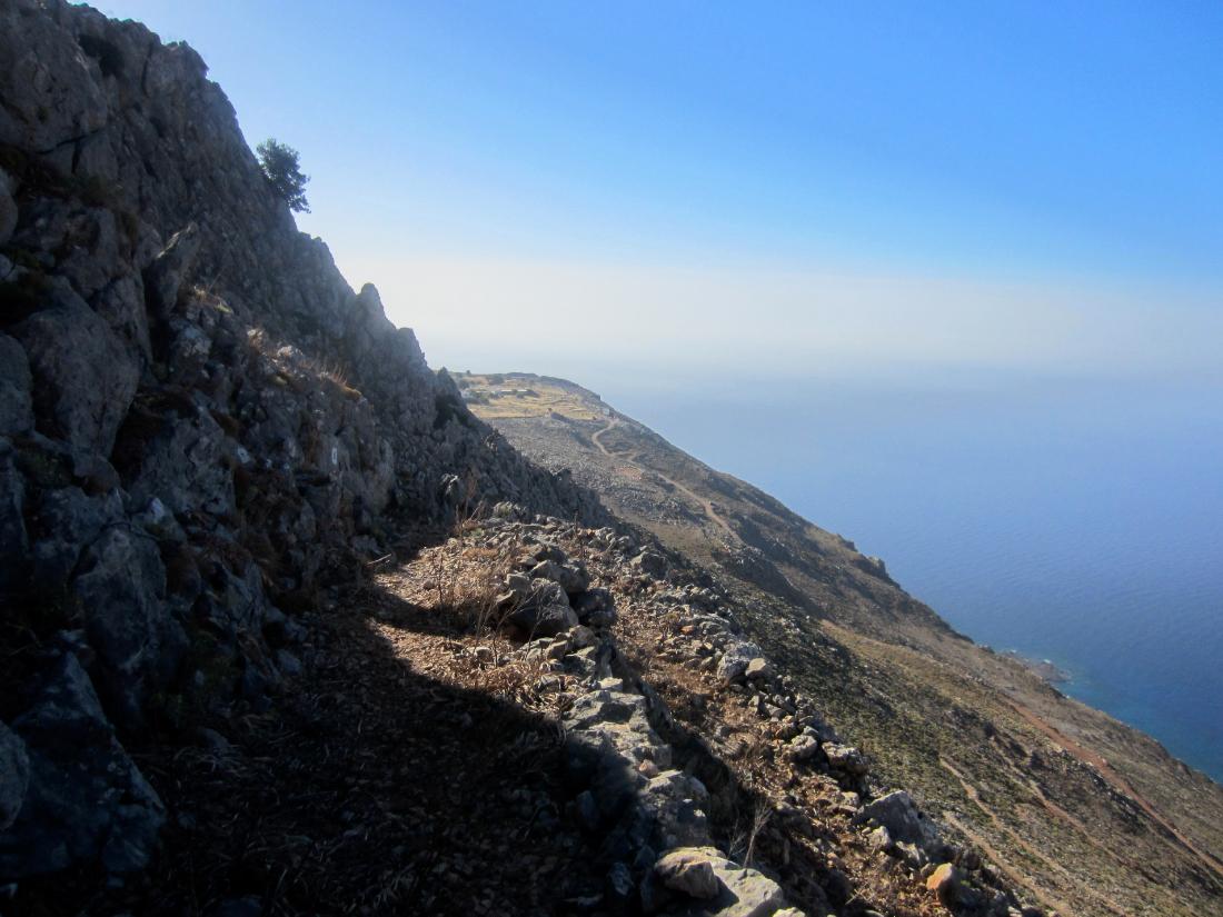 View along the cliffs