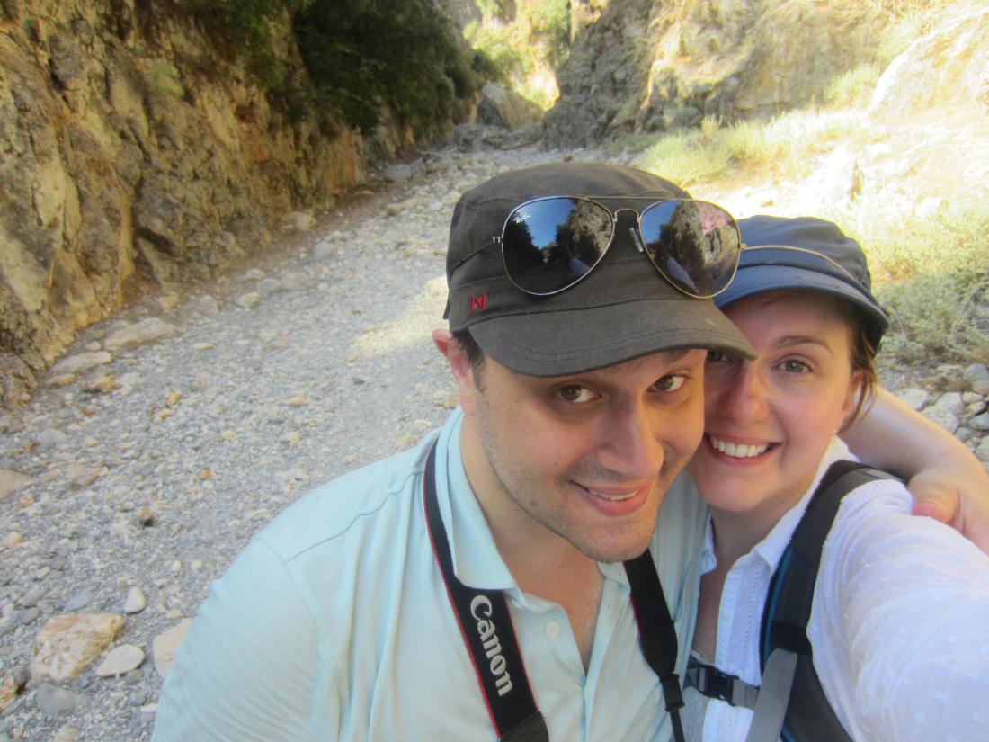 Us in the Aradena gorge