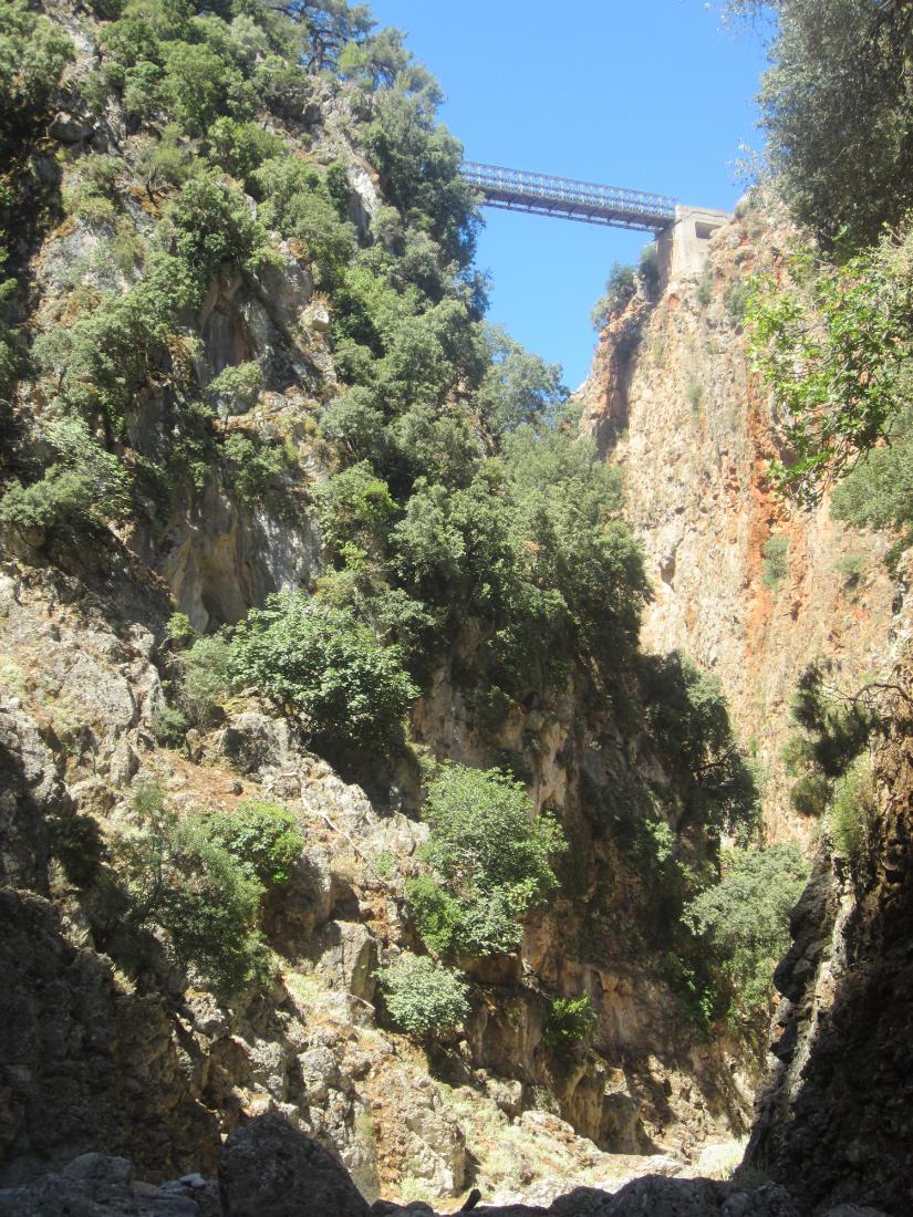 Aradena bridge from below