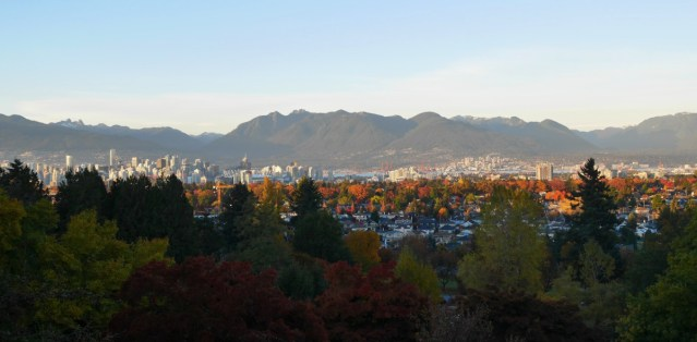 The pretty view from Queen Elizabeth Park