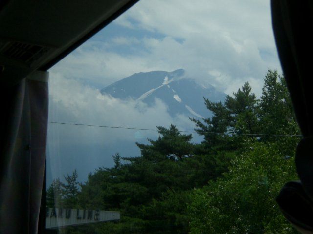 Mount Fuji from the bus
