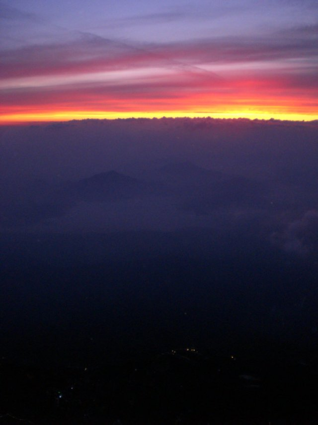 A teeny bit of the sunrise