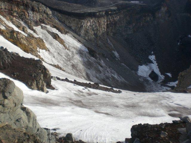 Mount Fuji crater