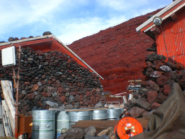 The red rocks of Mount Fuji