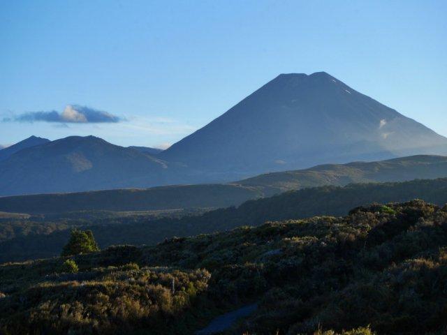 Mount Ngauruhoe from Whakapapa village