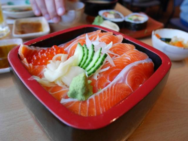 Gorgeous salmon donburi