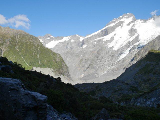 The ridge we climbed, next to Mount Sefton