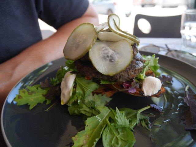 Relishes Café - lentil burger