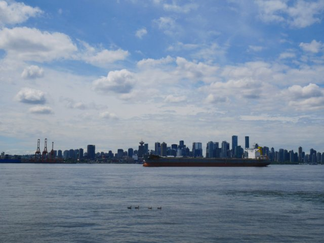 View to Vancouver from the North Shore