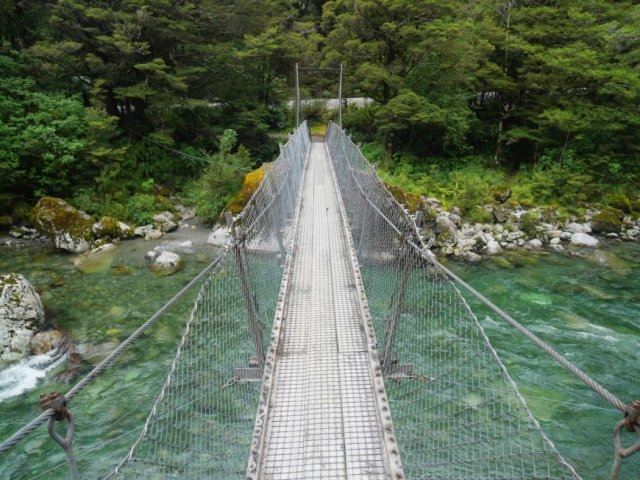 Crossing the Hollyford River