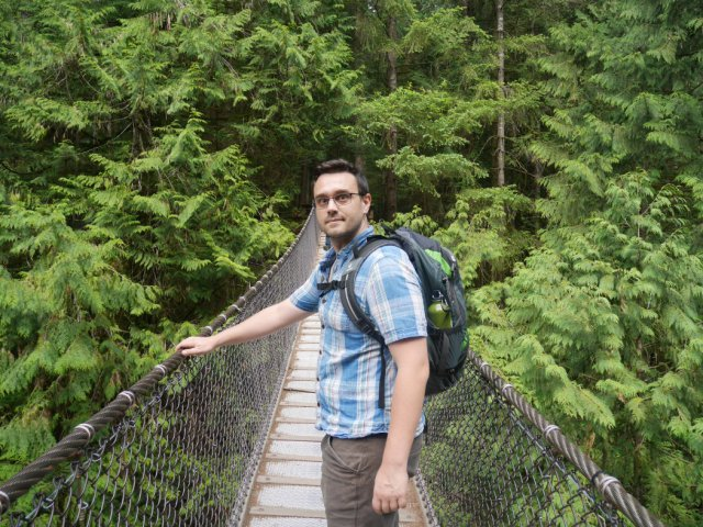 Marc on Lynn Canyon Suspension Bridge