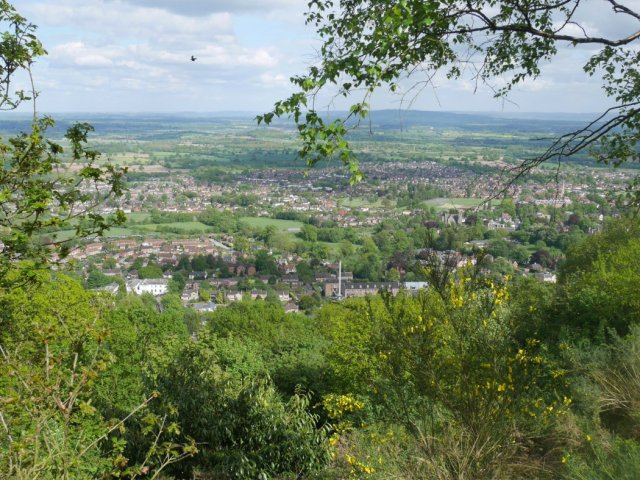 Looking down to Great Malvern