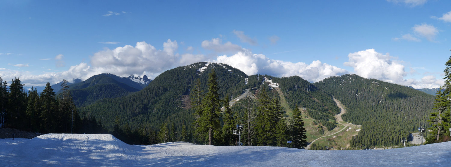 Cypress Mountain resort panorama from Black Mountain