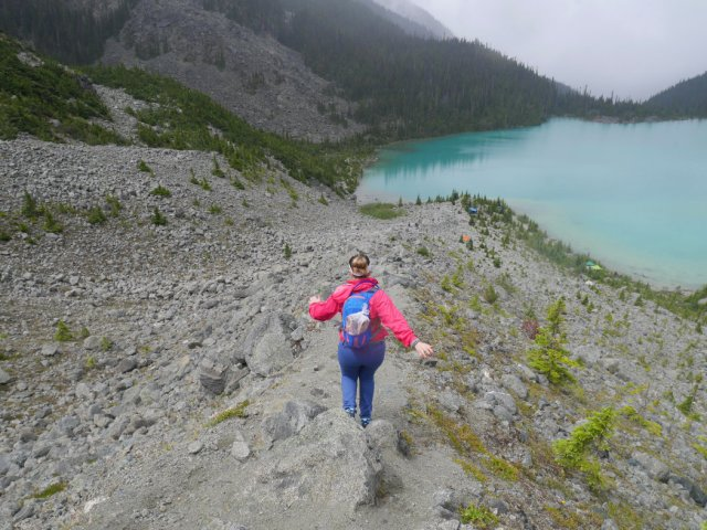 The ridge above Upper Joffre Lake