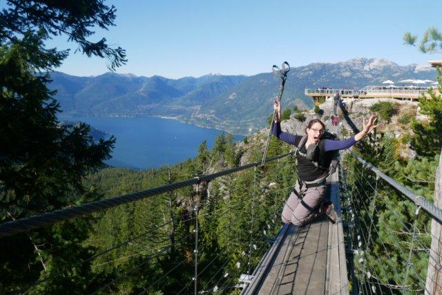 Suspension bridge jump
