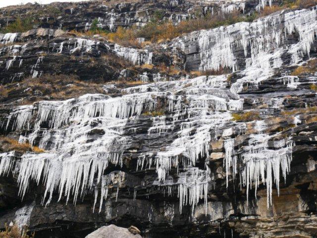 So many icy cliffs