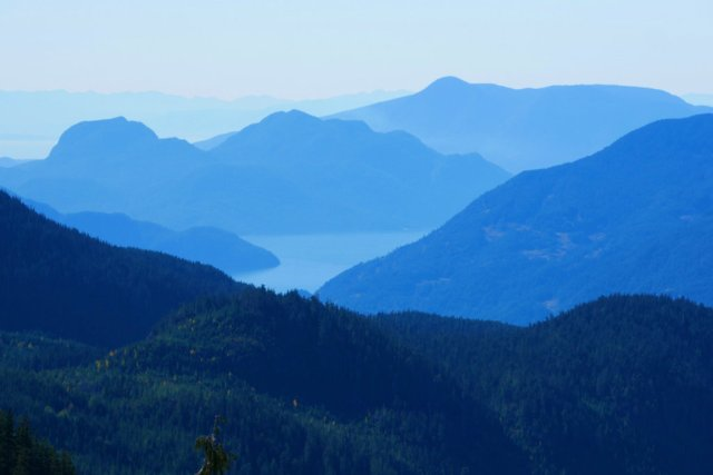 Looking back to Howe sound