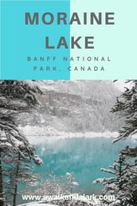 Moraine Lake pretty blue view