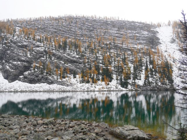 The big Beehive and Lake Agnes