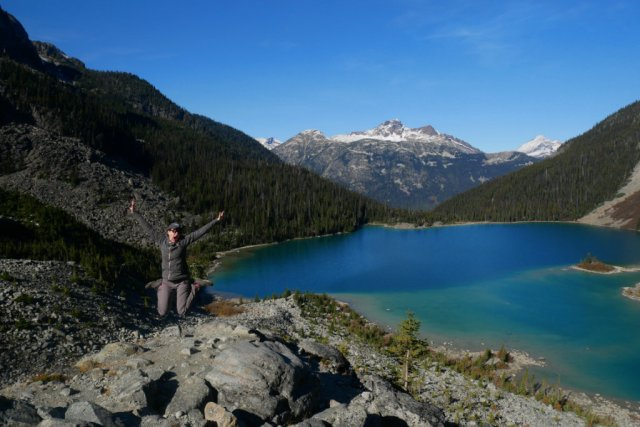 We climbed up above Joffre Lake again