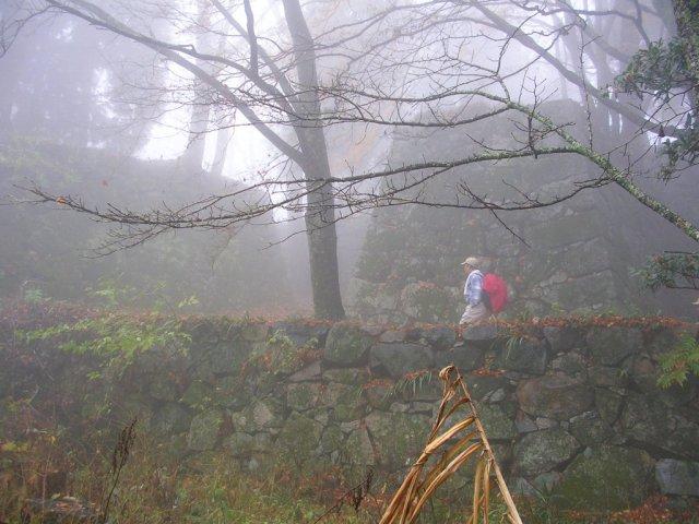 Misty Takatori Castle ruins