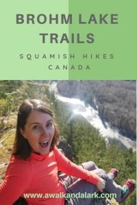 Brohm Lake trails near Squamish, BC, Canada