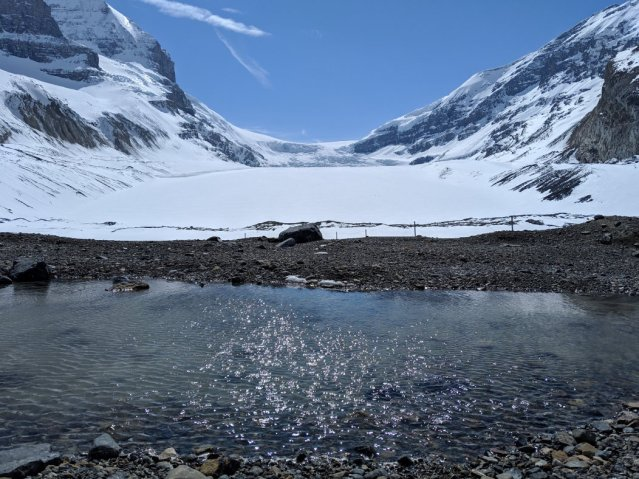 Puddles at the Toe of the Athabasca Glacier